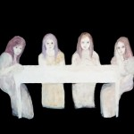 The dinig table of four women