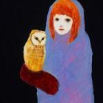 フクロウと女の子