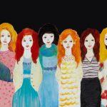 2014_no.26 田中千智「ガールズ」[Girls]2014、6F、31.8×40.9 cm、2014TAIPEI、2015Singapore