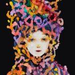 2014_no.34 田中千智「祭りの人」[Festival Girl]2014、6F、40.9×31.8 cm、15-040、2015Singapore、2015ArtFairTokyo