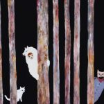 2014_no.39 田中千智「森の中のかくれんぼ」[Hide-And-Seek in the Forest]2014、30M、60.6×90.9 cm、15-039、2015Singapore