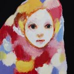 th2015_no.28 田中千智「みている人」[Watching Girl]2015、mini、10.0×7.5 cm、15-070、2015夜会