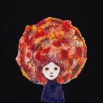 th2015_no.38 田中千智「ボムちゃん」[Miss Bomb]2015、mini、10.0×10.0cm、201509ArtFairAsia@福岡