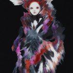 th2015_no.58 田中千智「生まれ変わった人」[Reborn Person]2015、8M、45.5×27.3 cm、201510横浜市民ギャラリー、2015村越