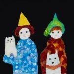 th2015_no.60 田中千智「ともだち(4匹)」[Friends(4)]2015、0F、13.9×17.9 cm、2015TAIPEI