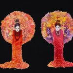 th2015_no.66 田中千智「二人の女神」[Two Muses]2015、50F、90.9×116.7 cm、2015TAIPEI