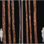 th2015_no.69 田中千智「はてしない物語」[Everlasting Story]2015、500over、120F2枚1組、130.3×388.0 cm、15-239、2015横浜市民ギャラリー、201510個展@小林画廊