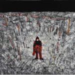 th2015_no.70 田中千智「戦う人」[Fighting Person]2015、130F、162.0×194.0 cm、2015横浜市民ギャラリー、2015村越