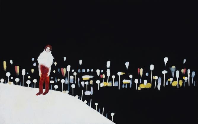 th2015_no.90 田中千智「地球のすみっこ」[A Corner of the Earth]2015、10M、33.3×53.0 cm、WEB文芸誌『片隅』2015、伽鹿舎発行、九州限定配本、谷川俊太郎「隅っこ」掲載・装画原画、201510個展