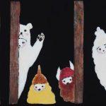 th2015_no.94 田中千智「森の住人たち」[Denizens of Forest]2015、0弱、10.0×15.0 cm、2015Xmas
