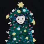 th2015_no.97 田中千智「ツリー人間」[Tree Man]2015、mini、10.0×10.0 cm、2015Xmas