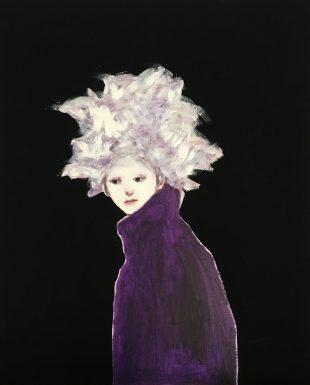 田中 千智 「これからを考える」 福岡県 縦 65.2 × 横 53 cm F15 キャンバスに油彩、アクリル 油彩/平面.JPG のコピー